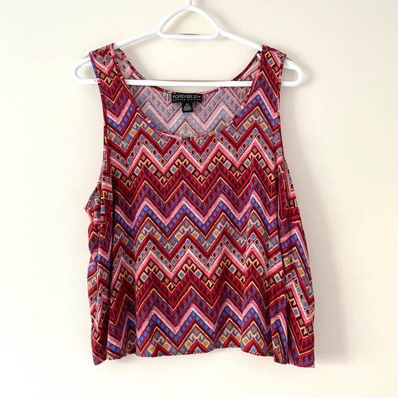 Forever 21 Plus Patterned Tank Top